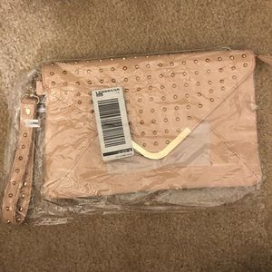 Brand new blush aldo clutch bag